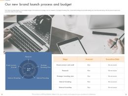 Our New Brand Launch Process And Budget Internal Branding Ppt Presentation Icon