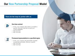 Our New Partnership Proposal Model Ppt Powerpoint Presentation Pictures Backgrounds