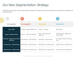 Our New Segmentation Strategy Benefit Sought Ppt Powerpoint Presentation Styles Graphic Images
