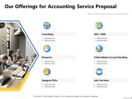 Our Offerings For Accounting Service Proposal Consulting Ppt Powerpoint Presentation Clipart