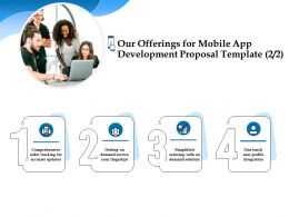 Our Offerings For Mobile App Development Proposal Template Ppt Powerpoint Template