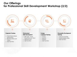 Our Offerings For Professional Skill Development Workshop Advance Excel Ppt Powerpoint Presentation Templates