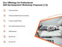 Our Offerings For Professional Skill Development Workshop Proposal Personality Development Ppt Presentation Picture
