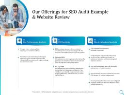 Our Offerings For SEO Audit Example And Website Review L1432 Ppt Powerpoint Layout