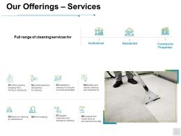 Our Offerings Services Institutional Ppt Powerpoint Presentation Outline Outfit