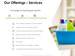 Our Offerings Services Ppt Powerpoint Presentation Template Background