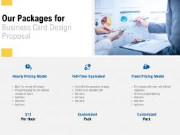 Our Packages For Business Card Design Proposal Ppt Powerpoint Presentation Model