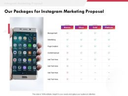Our Packages For Instagram Marketing Proposal Ppt Powerpoint Presentation Templates