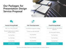 Our Packages For Presentation Design Service Proposal Ppt Powerpoint