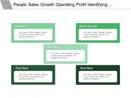 Our People Sales Growth Operating Profit Identifying Value