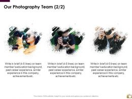 Our Photography Team Communication Introduction Ppt Powerpoint Slideshow