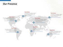 Our Presence Geography C1160 Ppt Powerpoint Presentation Infographic Template