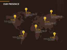 Our Presence Information Ppt Powerpoint Presentation Slides Templates