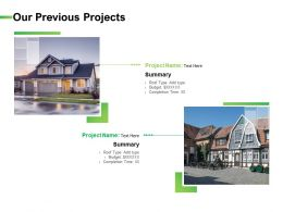 Our Previous Projects Ppt Powerpoint Presentation Slides
