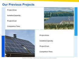 Our Previous Projects Ppt Powerpoint Presentation Visual Aids Summary