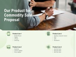 Our Product For Commodity Sale Proposal Ppt Powerpoint Presentation Portfolio