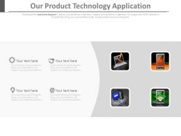 Our Product Technology Application Ppt Slides