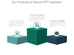 Our Products At Glance Ppt Inspiration