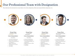 Our Professional Team With Designation People Powerpoint Presentation Show