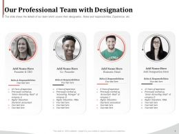 Our Professional Team With Designation Ppt Demonstration
