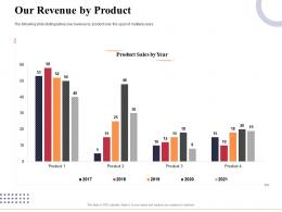 Our Revenue By Product Marketing And Business Development Action Plan Ppt Infographics