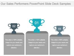 Our Sales Performers Powerpoint Slide Deck Samples