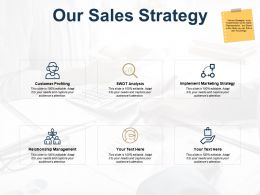Our Sales Strategy Ppt Powerpoint Presentation Outline Graphics Example