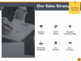 Our Sales Strategy Ppt Powerpoint Presentation Outline Ideas