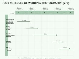 Our Schedule Of Wedding Photography Business Ppt Powerpoint Presentation Portfolio Slideshow