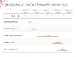 Our Schedule Of Wedding Photography Contract Ppt Powerpoint Presentation Background