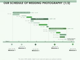Our Schedule Of Wedding Photography Process Ppt Powerpoint Presentation Gallery Diagrams
