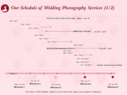 Our Schedule Of Wedding Photography Services L1515 Ppt Powerpoint Presentation Tips