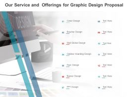 Our Service And Offerings For Graphic Design Proposal Ppt Powerpoint Presentation