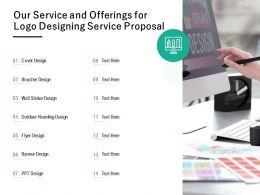 Our Service And Offerings For Logo Designing Service Proposal Ppt Powerpoint
