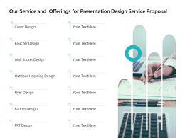 Our Service And Offerings For Presentation Design Service Proposal Ppt