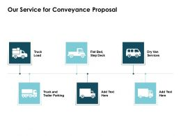 Our Service For Conveyance Proposal Ppt Powerpoint Presentation Picture