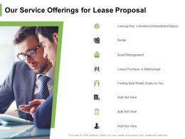 Our Service Offerings For Lease Proposal Ppt Powerpoint Presentation Layouts Designs