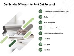 Our Service Offerings For Rent Out Proposal Ppt Powerpoint Presentation Inspiration