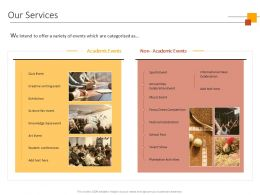 Our Services Academic Ppt Powerpoint Presentation Background Designs