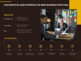 Our Services And Expertise For New Business Proposal Ppt Styles