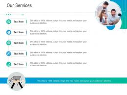 Our Services Business Outline Ppt Demonstration