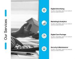 Our Services Digital Advertising J135 Ppt Powerpoint Presentation File Slides