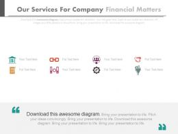 Our Services For Company Financial Matters Flat Powerpoint Design
