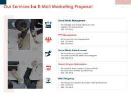 Our Services For E Mail Marketing Proposal Ppt Powerpoint Presentation Visuals