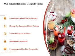 Our Services For Event Design Proposal Ppt Powerpoint Presentation Icon Model