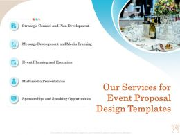 Our Services For Event Proposal Design Templates Ppt Infographics