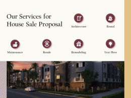 Our Services For House Sale Proposal Ppt Powerpoint Presentation Visual Aids Deck