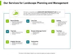 Our Services For Landscape Planning And Management Ppt Slides