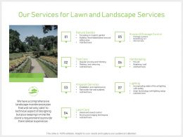 Our Services For Lawn And Landscape Services Powerpoint Presentation Gallery Ideas
