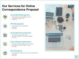 Our Services For Online Correspondence Proposal Ppt Portfolio